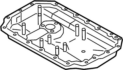 2012 Porsche Cayenne Engine Oil Pan (Lower). Compound