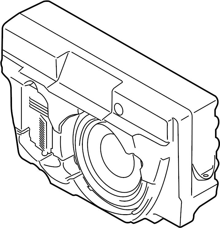 Porsche Macan Speaker (Rear). 2015-16, subwoofer, high end