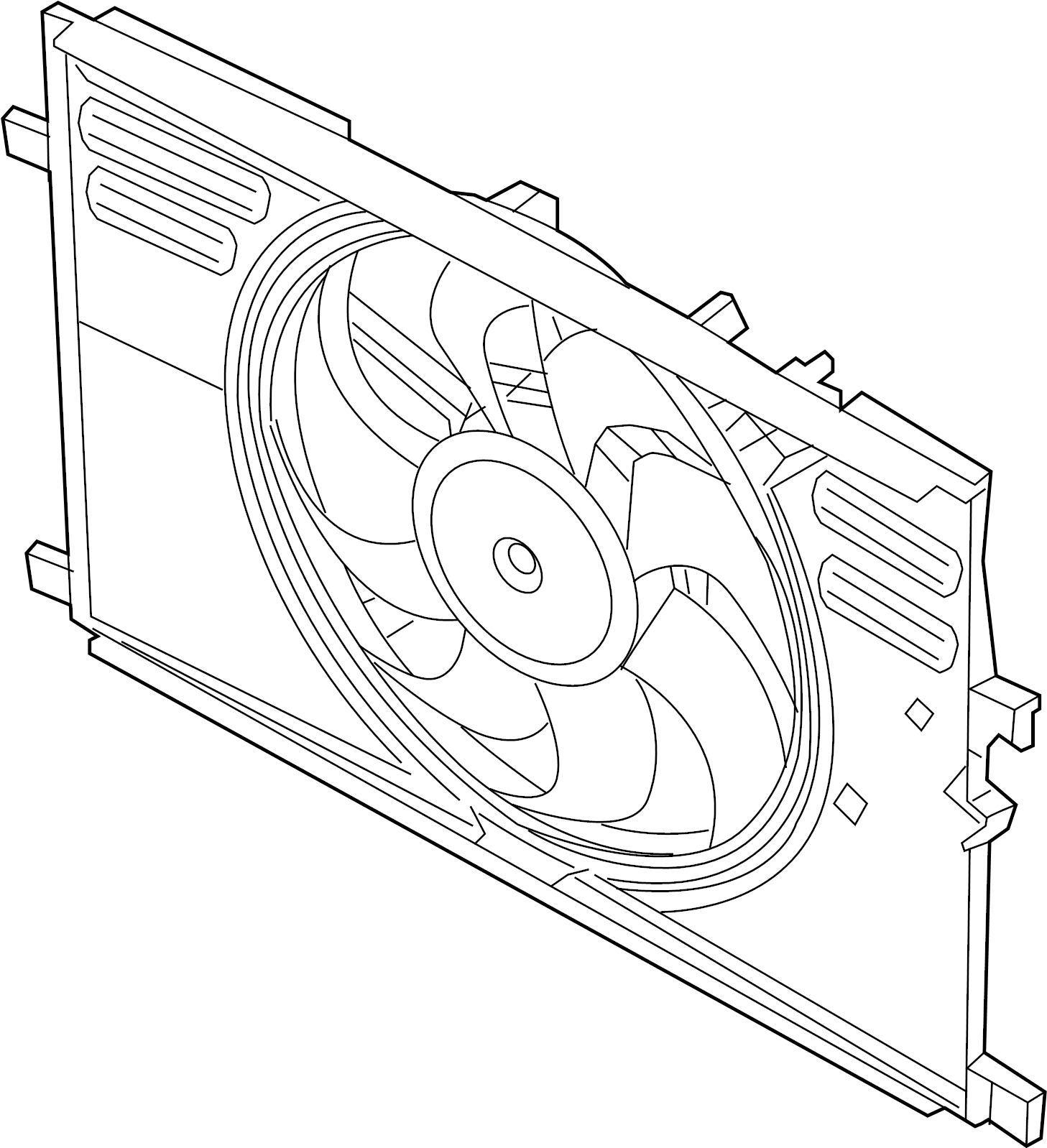 Porsche Cayenne Engine Cooling Fan Assembly. Radiator, Air