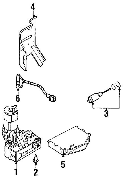 Volkswagen Cabrio Abs control module. Abs control unit