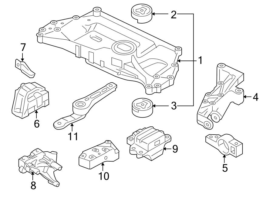 2010 Volkswagen Jetta Bracket. Arm. Control. (Rear, Upper
