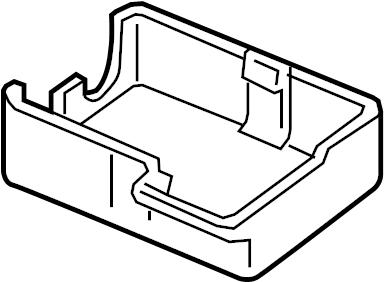 Volkswagen Touareg Access panel cover. Cap. (Lower). Part
