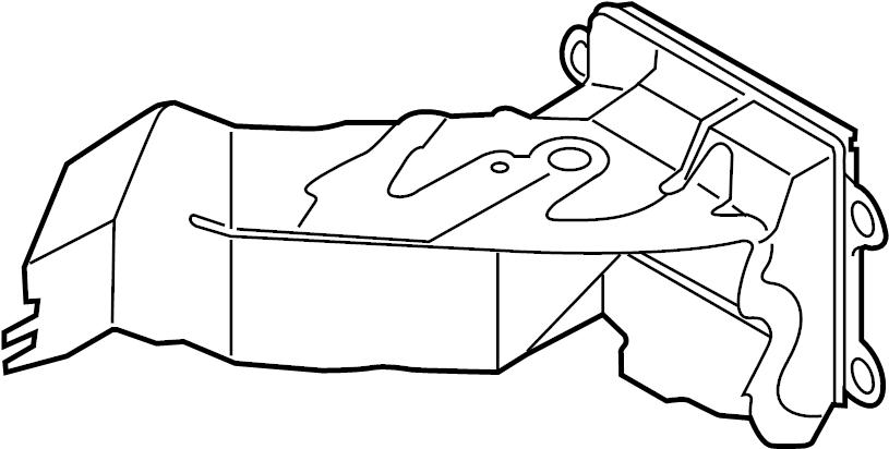 Volkswagen Jetta Radiator Support Air Duct. 2014-17