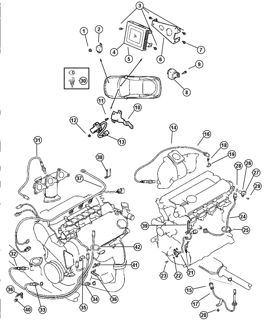Chrysler Sebring Clip. Wiring. (10.5-60/85), 10.5-60/85
