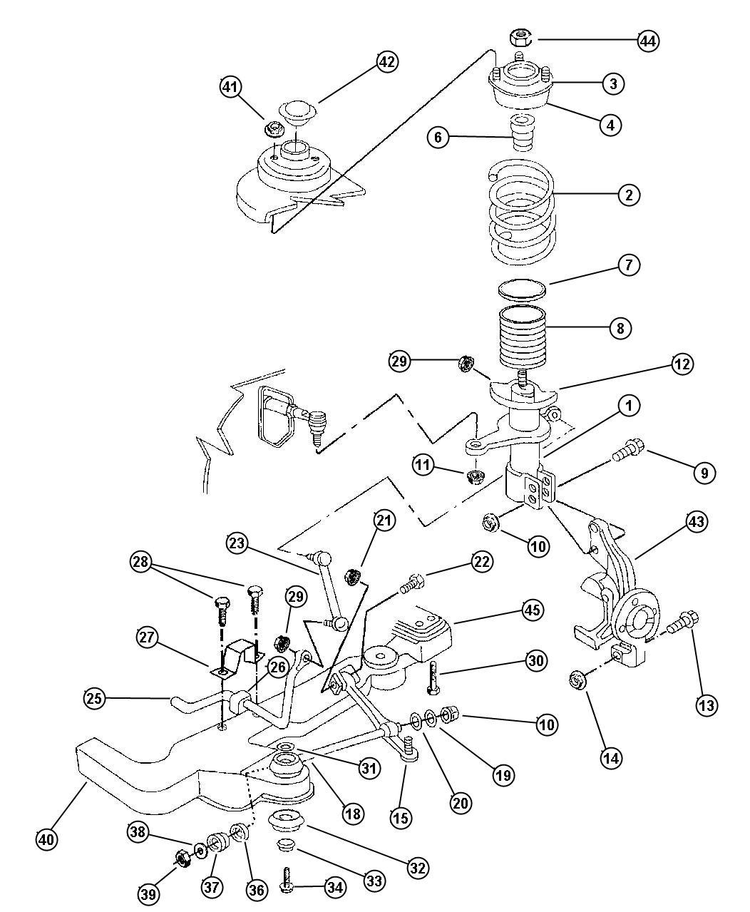 Dodge Intrepid Strut Front Suspension Tension