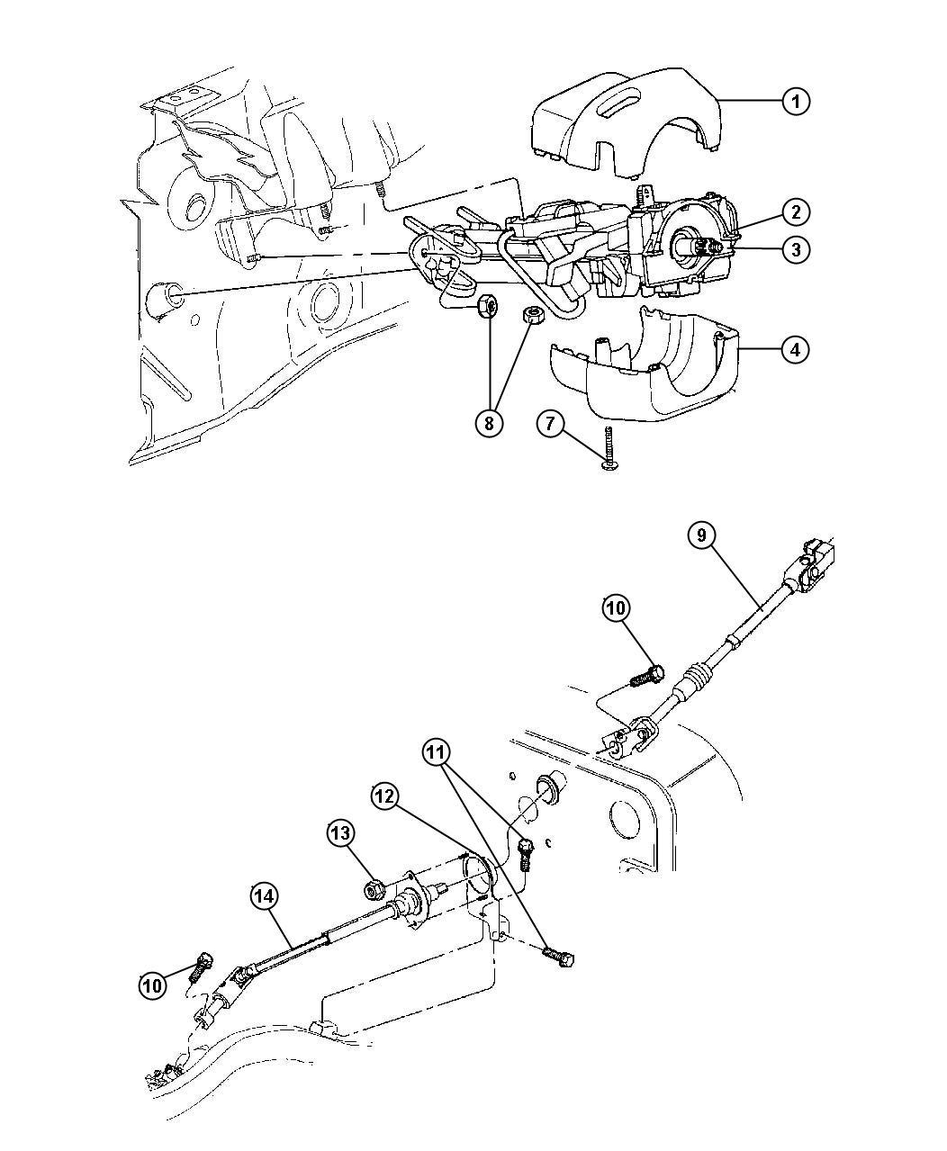 Jeep Wrangler Shroud. Steering column. Lower. Automatic