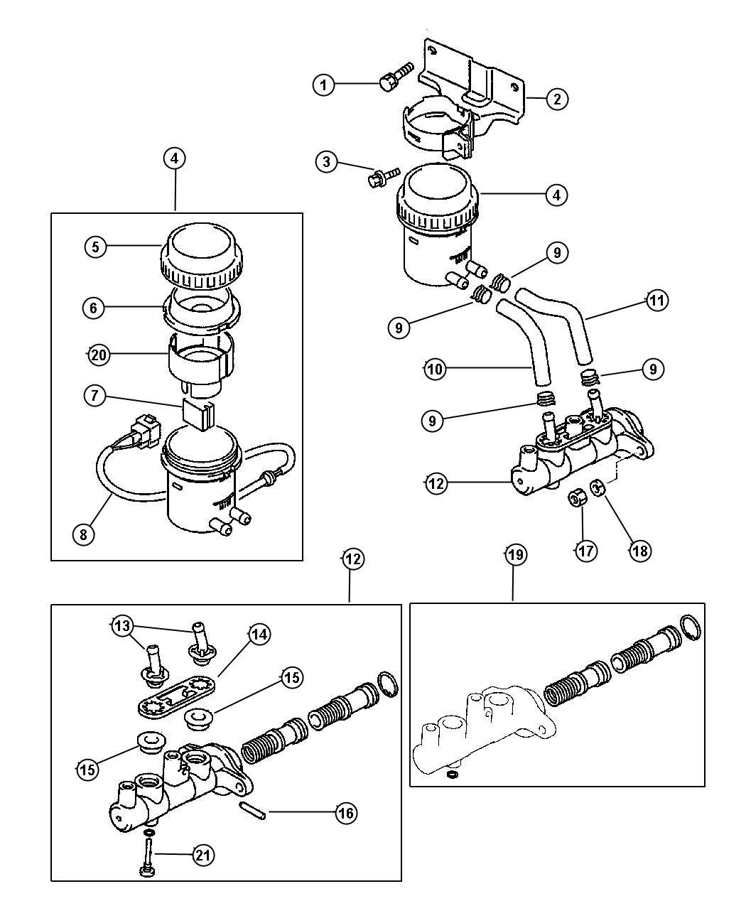 Chrysler Sebring Nut. Gear shift link, master cylinder to
