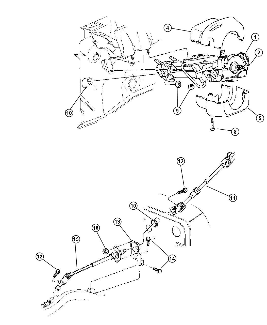 Jeep Wrangler Shroud. Steering column. Lower. Automatic