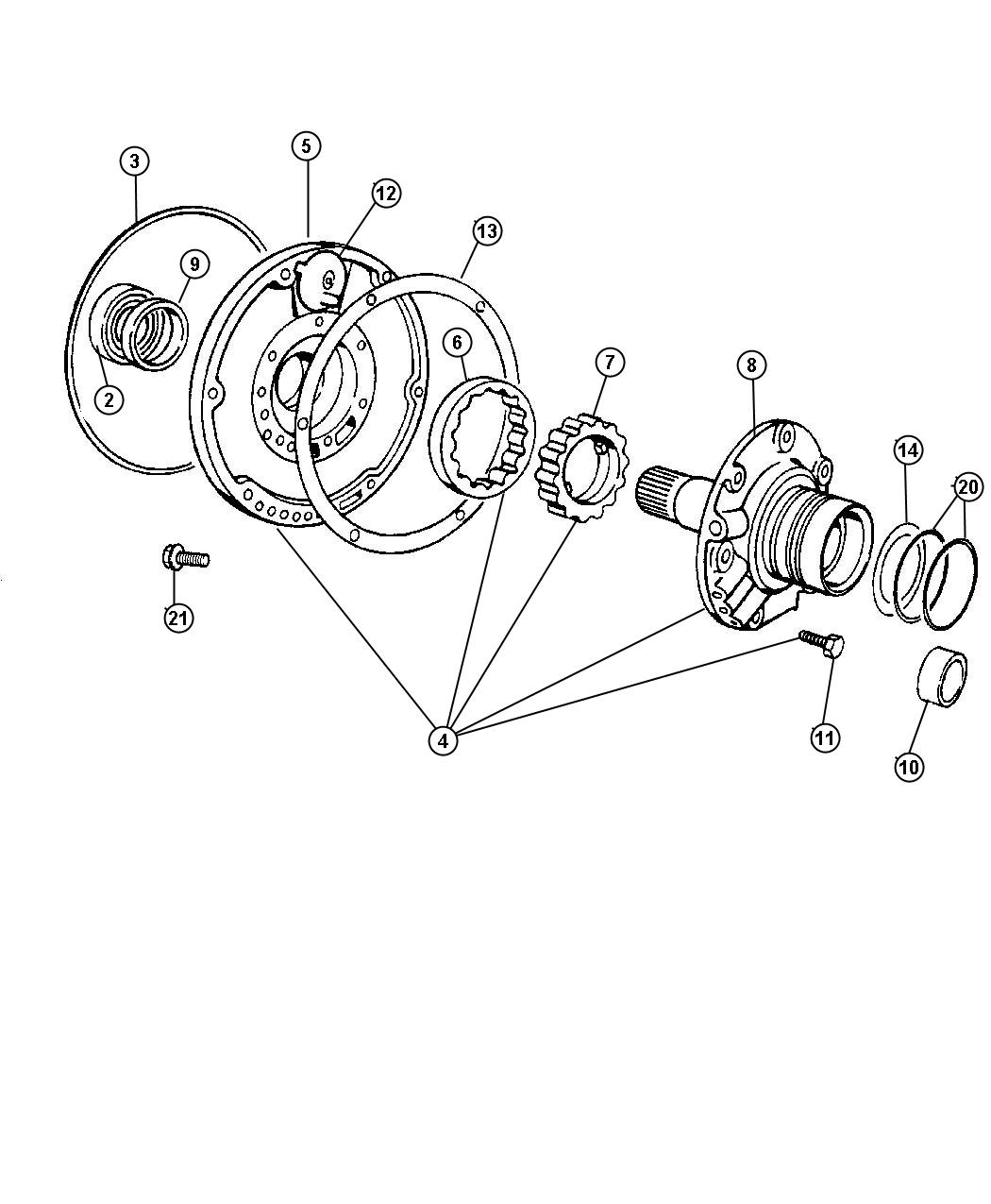 Dodge Ram 2500 Pump package. Transmission. W/bgj, w/obgj