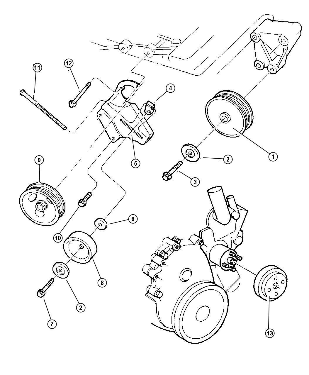 Jeep Wrangler Tensioner. Belt. Engine, alternator, engines