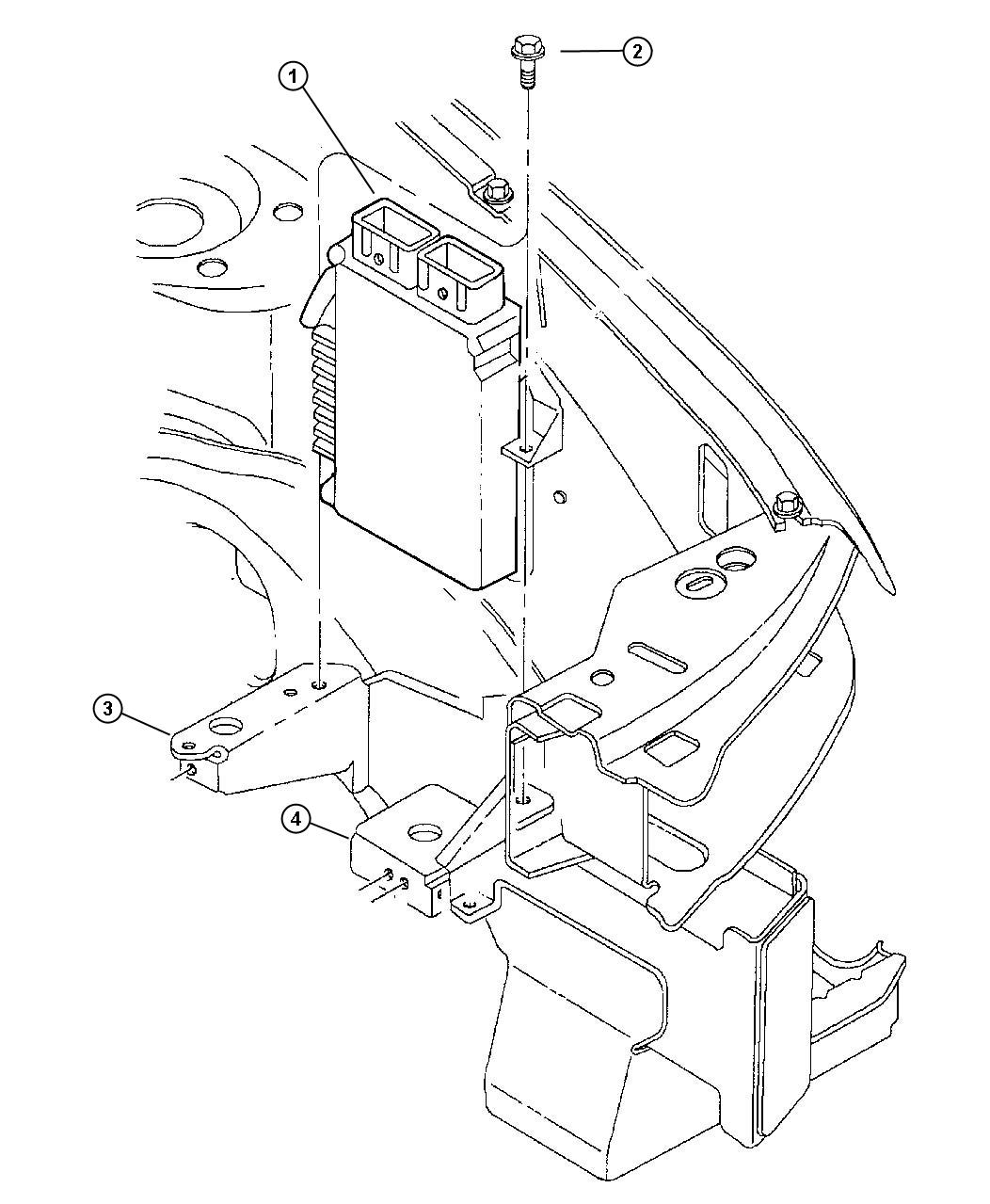 Dodge Stratus Module. Engine controller. Federal emissions