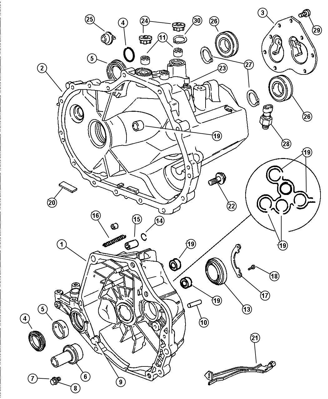 Chrysler Sebring Plug. Oil fill. Drain & fill, fill