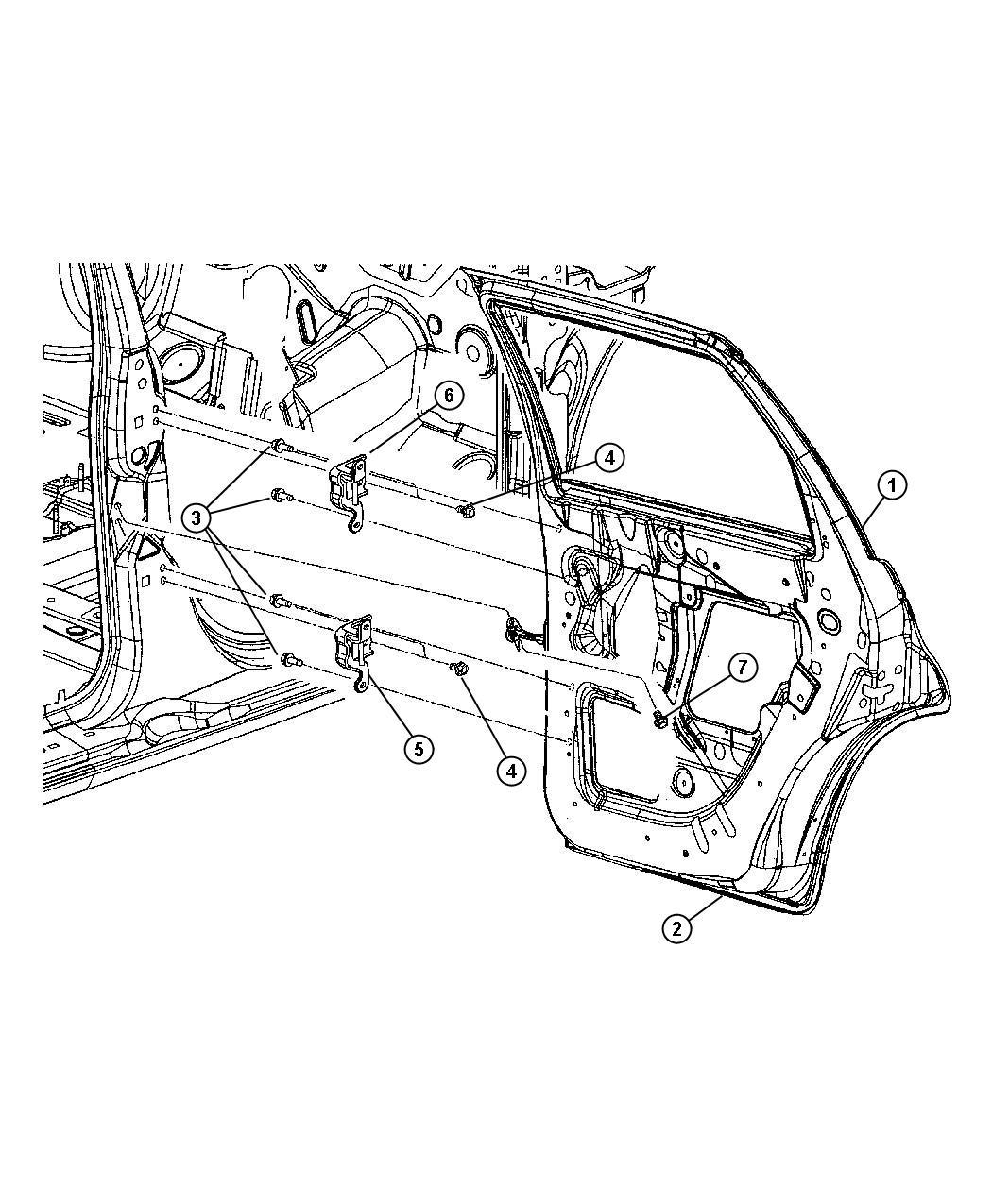 Chrysler Pt Cruiser Door Rear Left Door Assembly