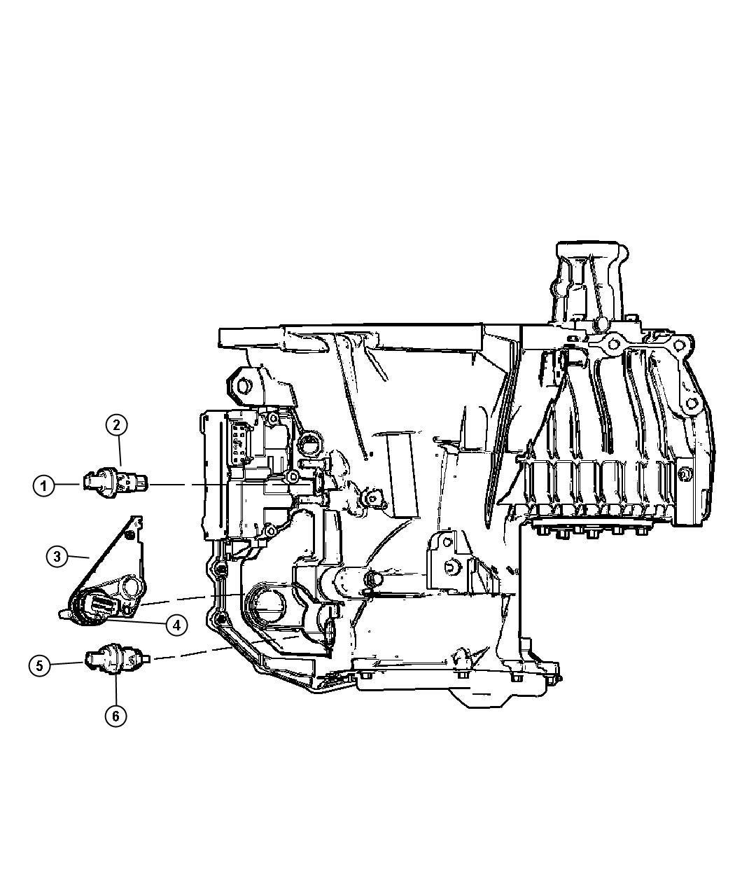 Chrysler Concorde Sensor. Manual valve lever. After 9-29