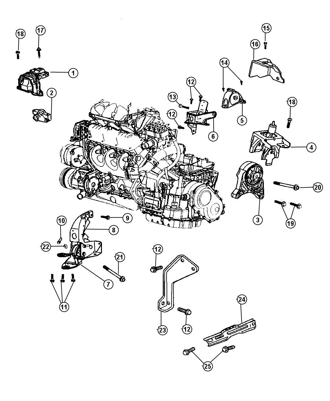 Chrysler Voyager Bracket. Engine mount, transmission