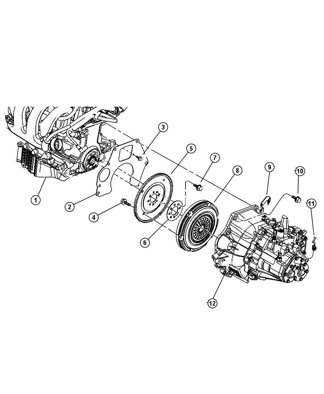 Dodge Neon Bolt. Hex head, hex head lock. M10x1.50 x 13.20