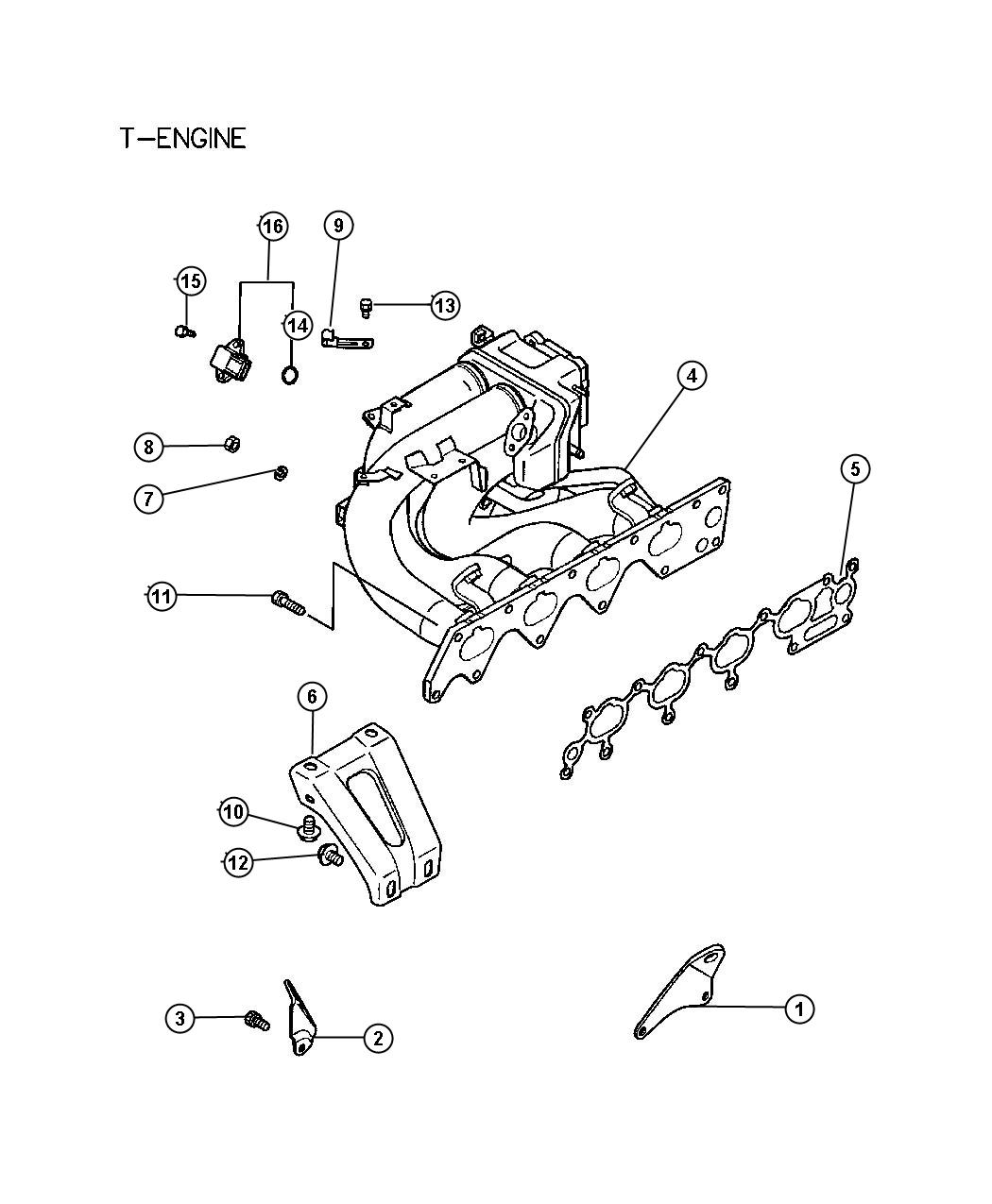 Dodge Stratus Bracket. Engine lift. Manifold, hanger