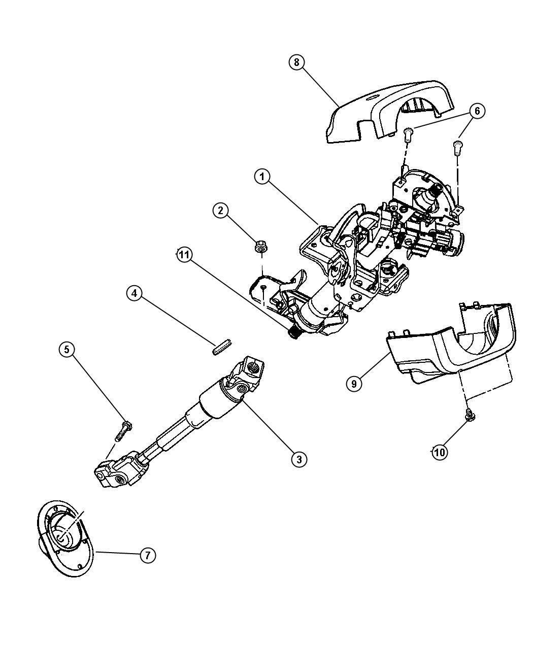 Chrysler Sebring Bearing Steering Column Upper