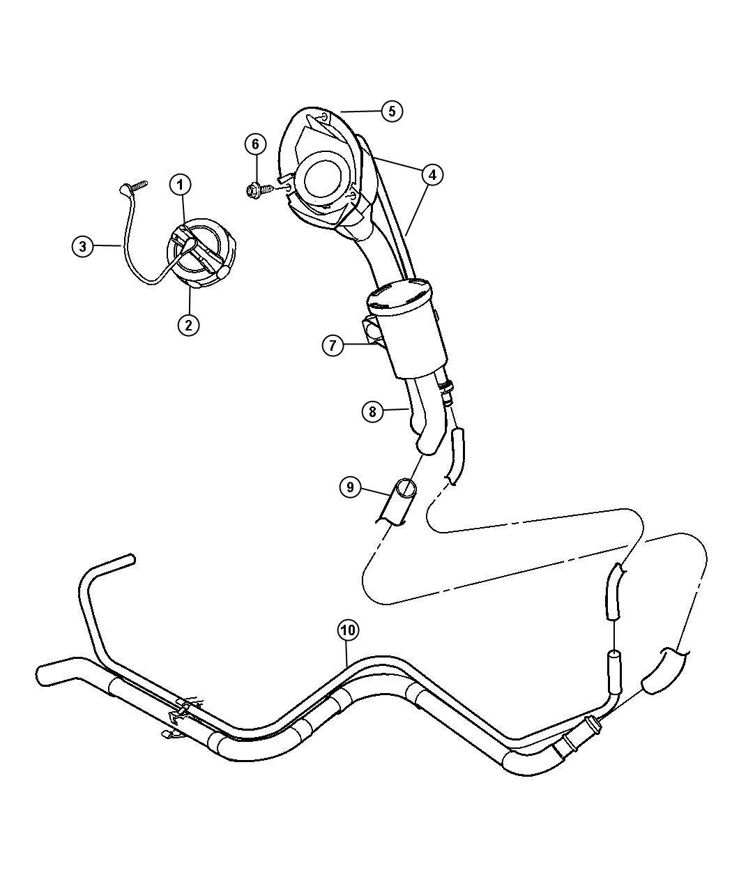 Jeep Liberty Filter. Fuel vapor vent, leak detection pump