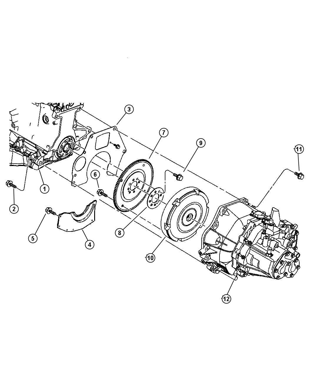 Chrysler PT Cruiser Plate. Drive plate backing, flexplate