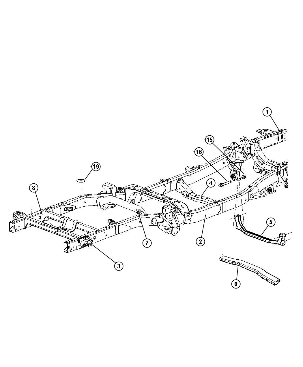 Dodge Ram 1500 Frame assembly. Chassis. [transmissions