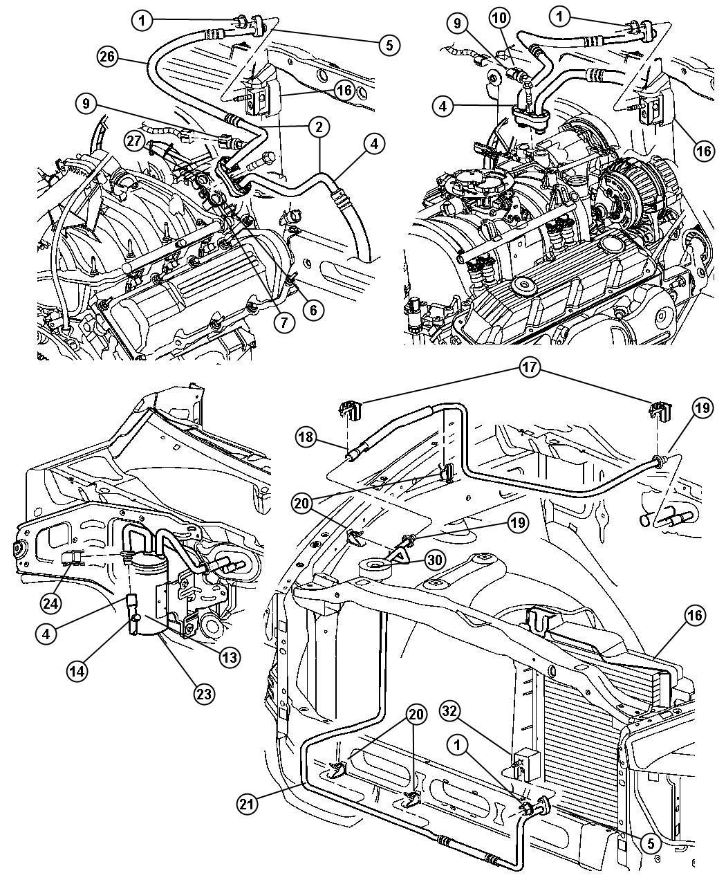 Dodge Ram 1500 Seal. Slim line. Line to compressor