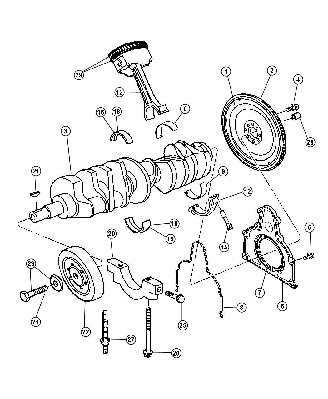 Dodge Ram 1500 Bolt. Connecting rod. [mj9x1.00-4h], mj9 x