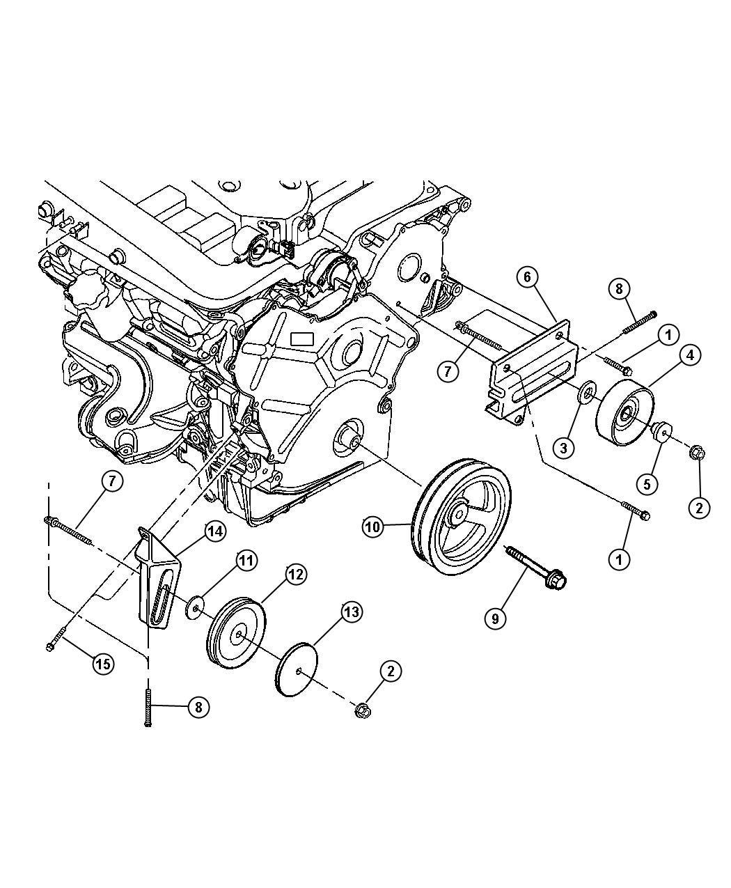Chrysler Concorde Pulley. Power steering pump. Pulleys