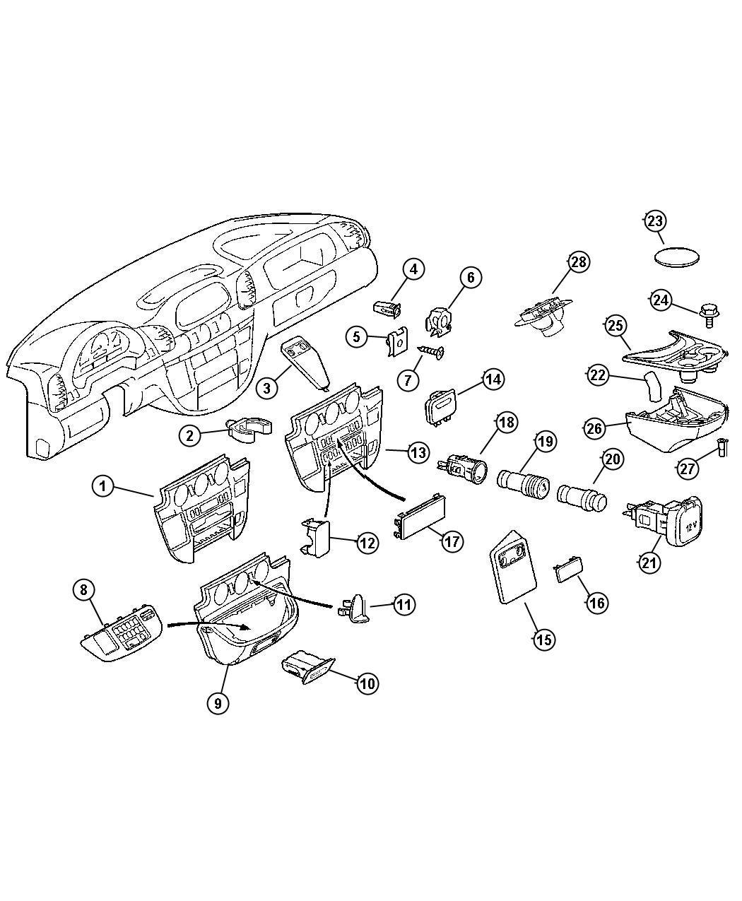 Dodge SPRINTER Console. Instrument panel. Groupnational