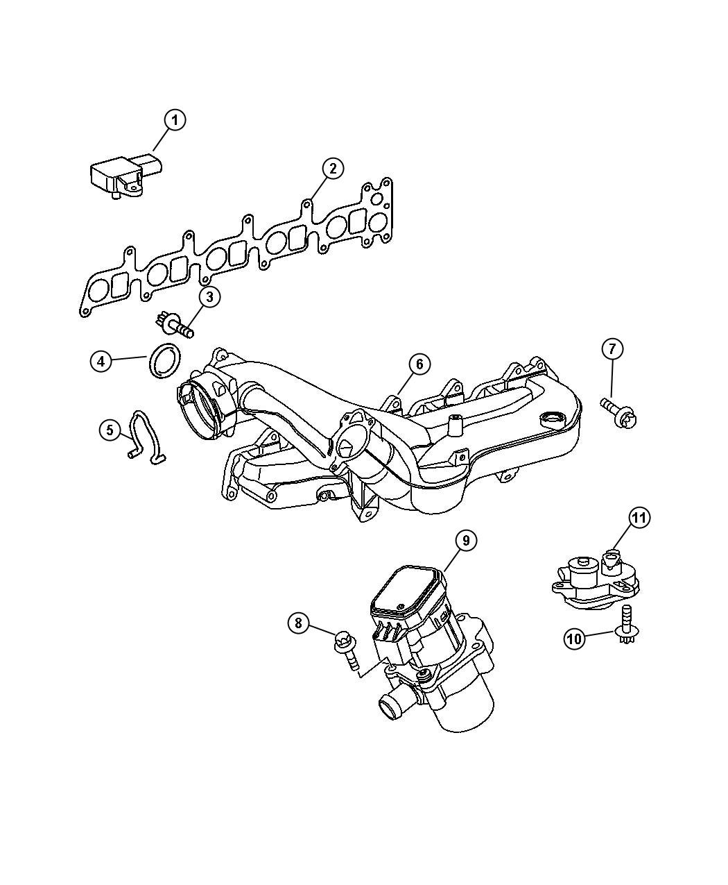 Dodge SPRINTER Sensor. Coolant level. Diesel, manifold