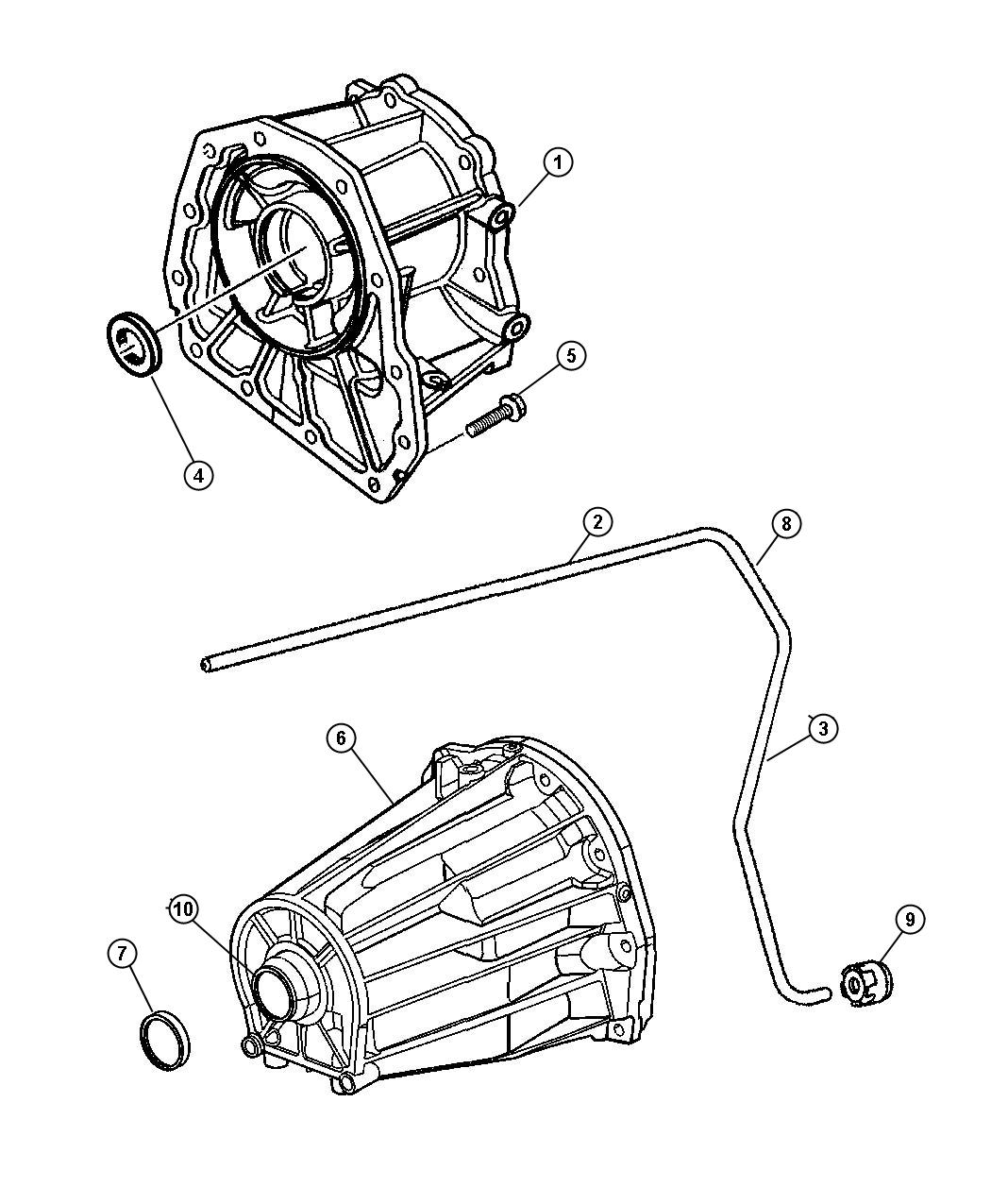 Jeep Liberty Adapter. Transfer case. Extension