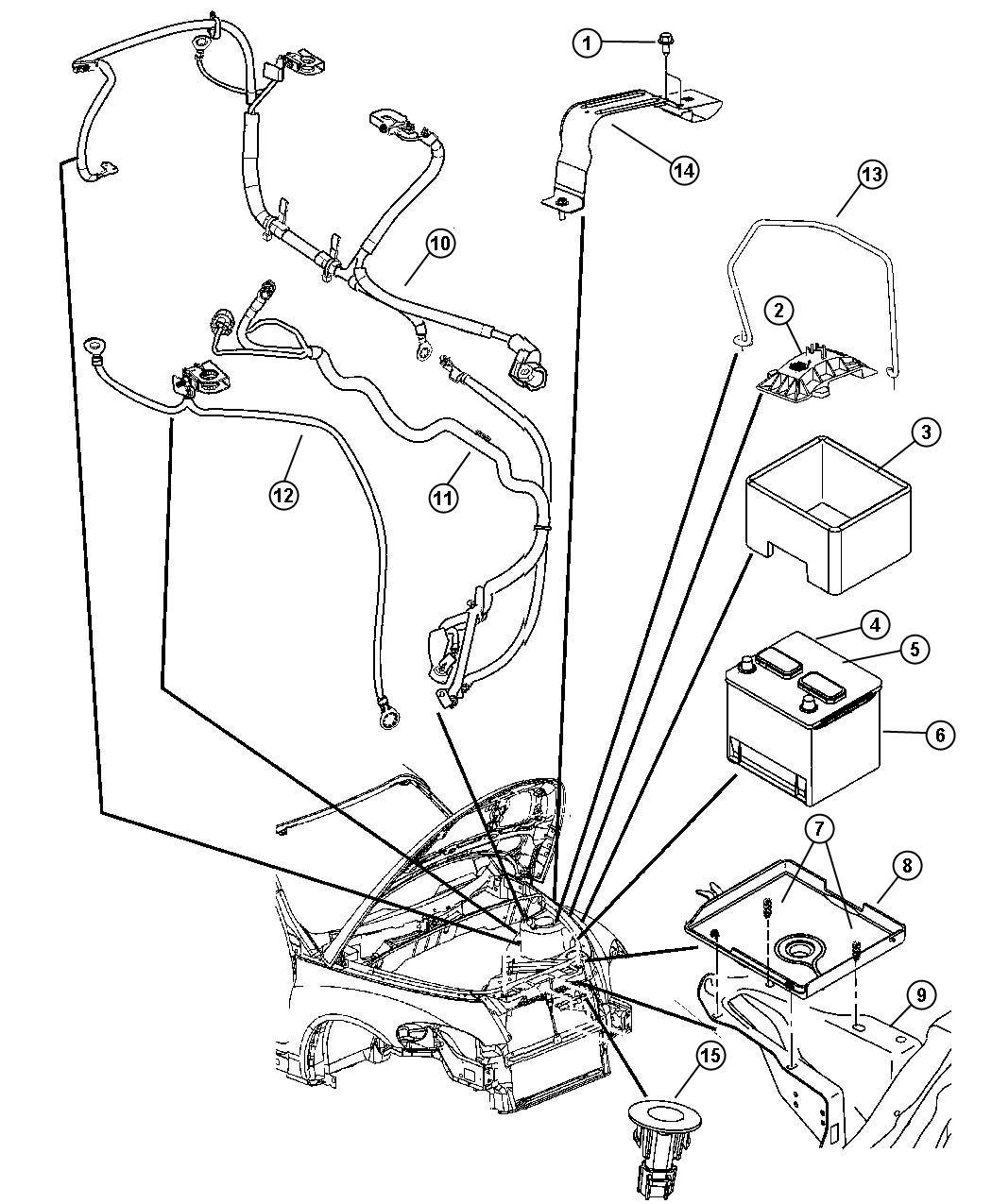 Chrysler PT Cruiser Wiring. Battery. Amp, maintenance