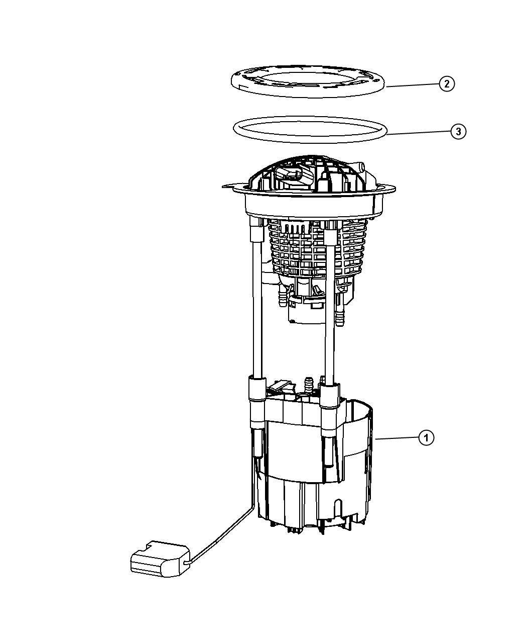 Dodge Ram 1500 Module package. Fuel pump/level unit. [35