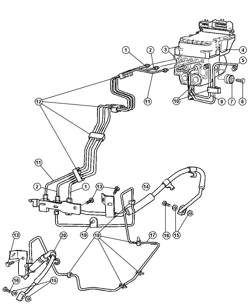 Dodge Ram 2500 Control unit. Anti-lock brake. [engines