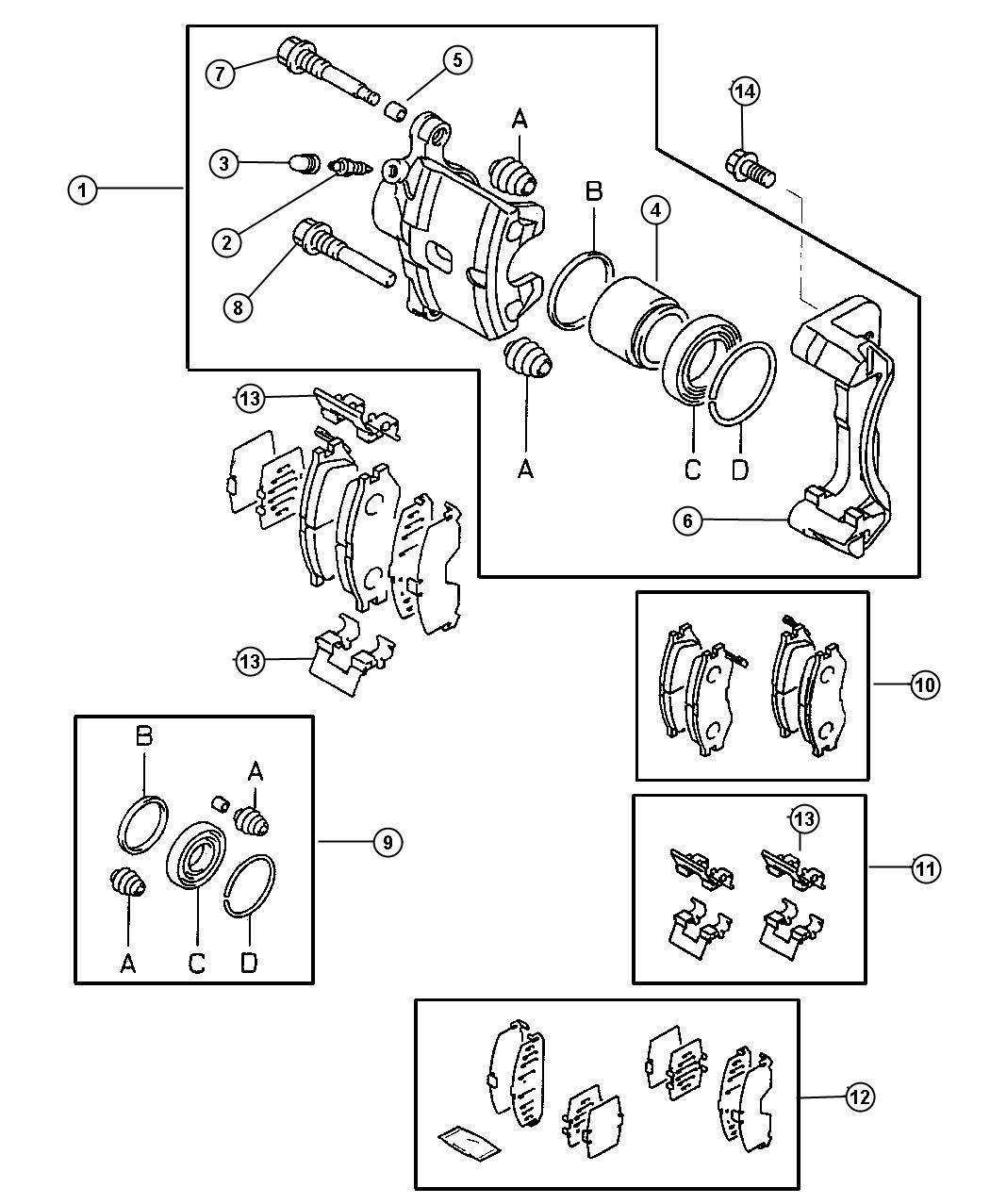 Chrysler Sebring Bolt. Wheel hub. Sebring, sebring limited