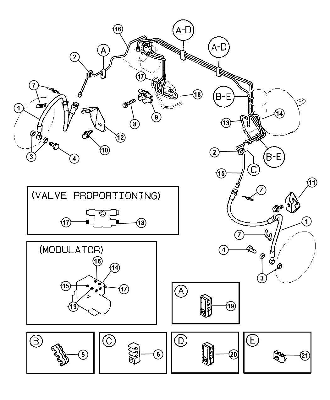 Dodge Stratus Gasket, washer. Brake hose to caliper, brake
