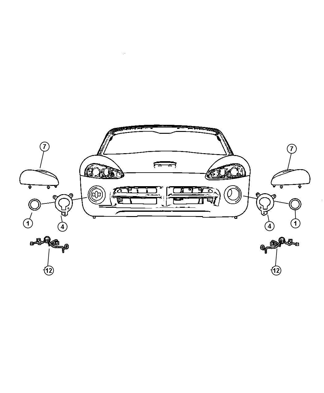 Dodge Viper Headlamp. Right. [high intensity discharge