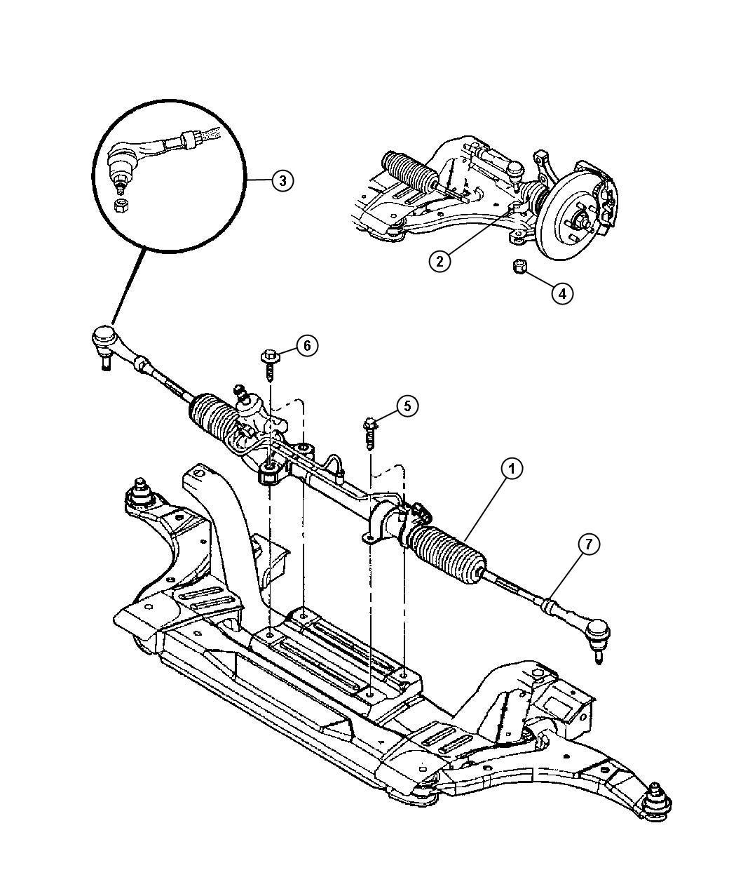 Chrysler PT Cruiser Gear. Power steering, used for: rack