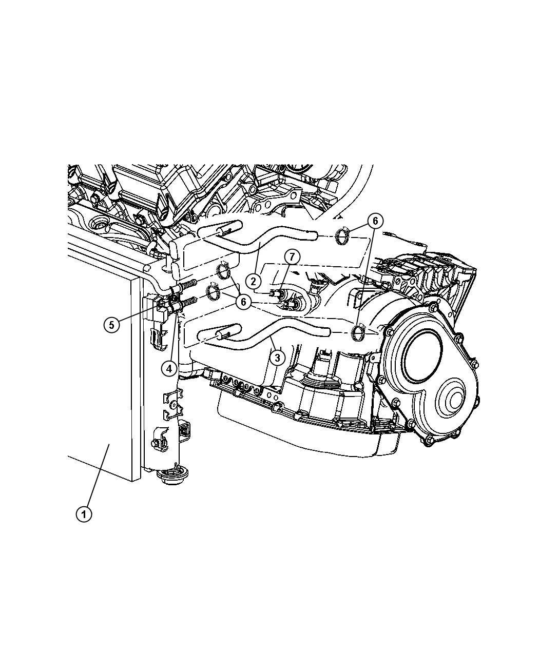 Chrysler Sebring Tube. Trans oil cooler inlet. Engine
