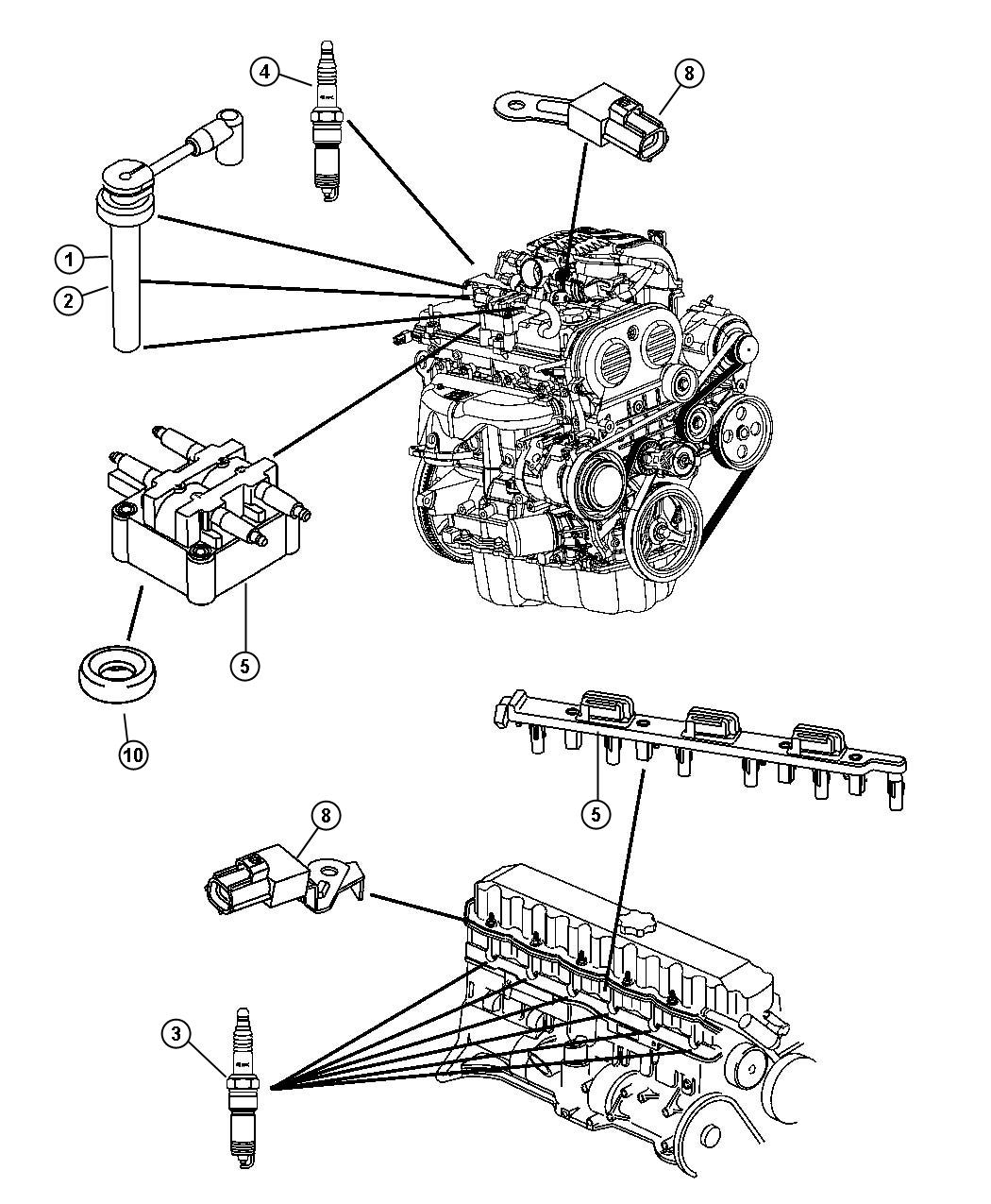 Jeep Wrangler Coil. Ignition. Spark, plugs, coils