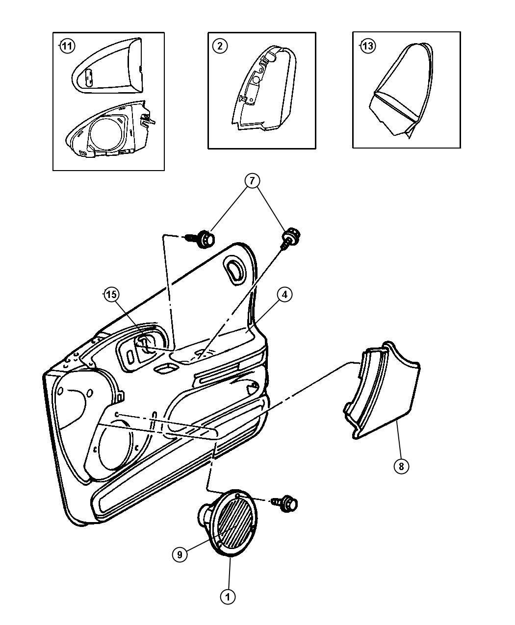 Dodge Intrepid Plate Speaker Right Trim All Trim