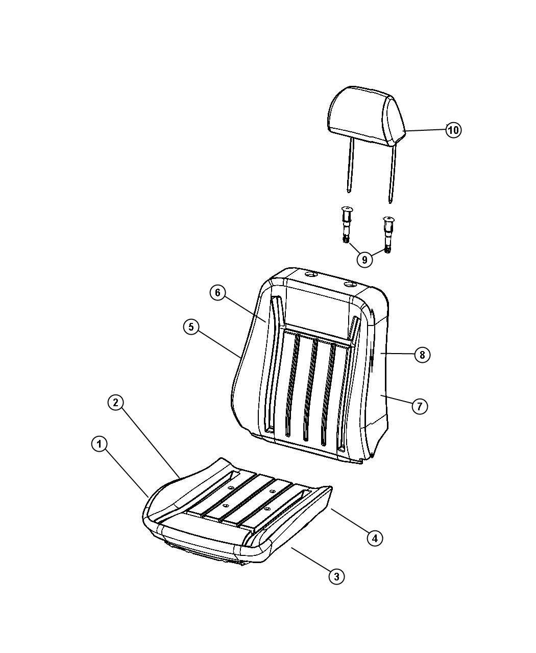 Dodge Magnum Heated Pad Pad Heater Seat Cushion Used