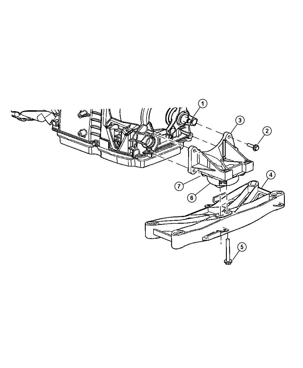 Chrysler 300 Mount. Transmission. Support, structural, rwd