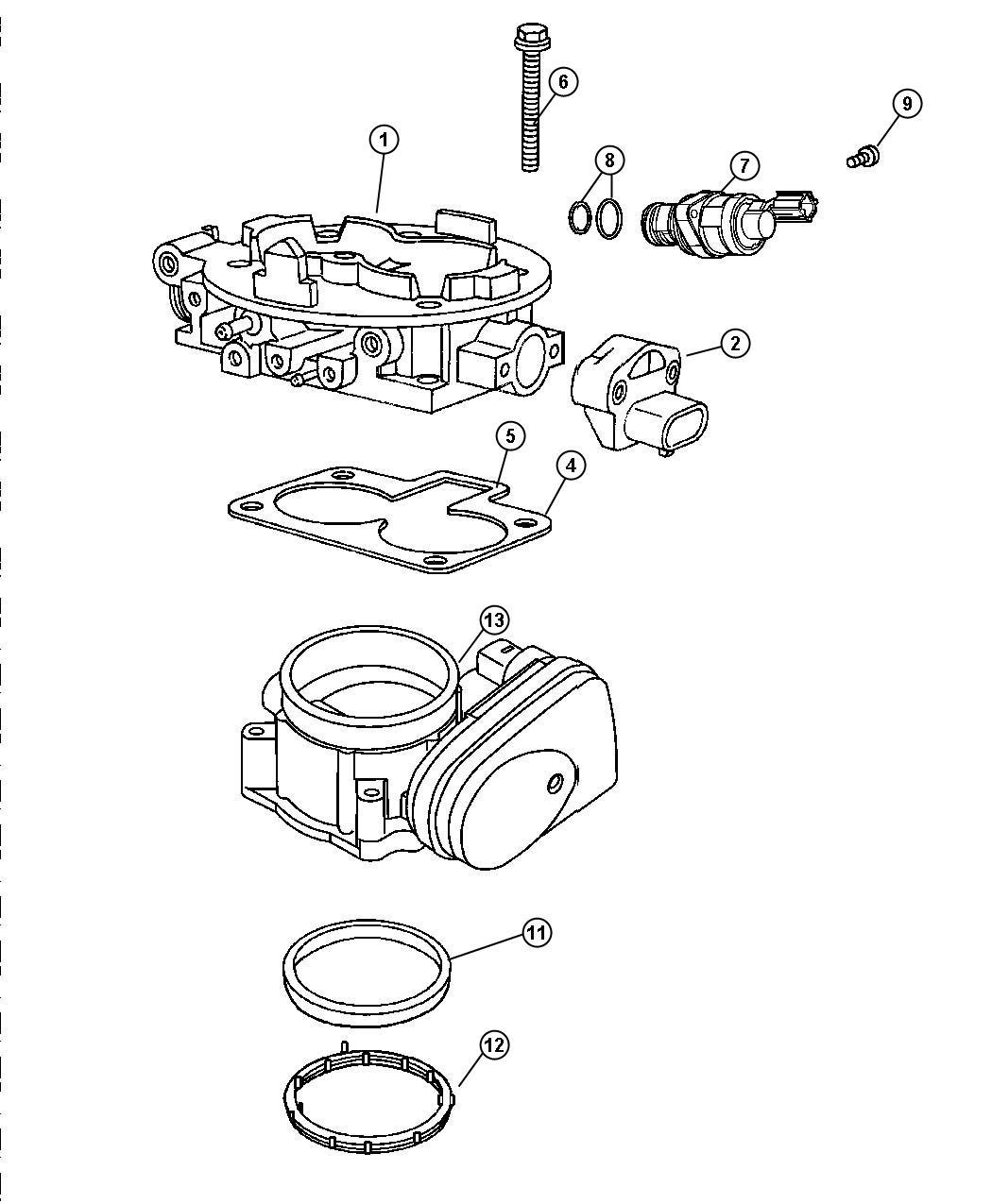 Dodge Durango Throttle body. Engine, hemi, gas