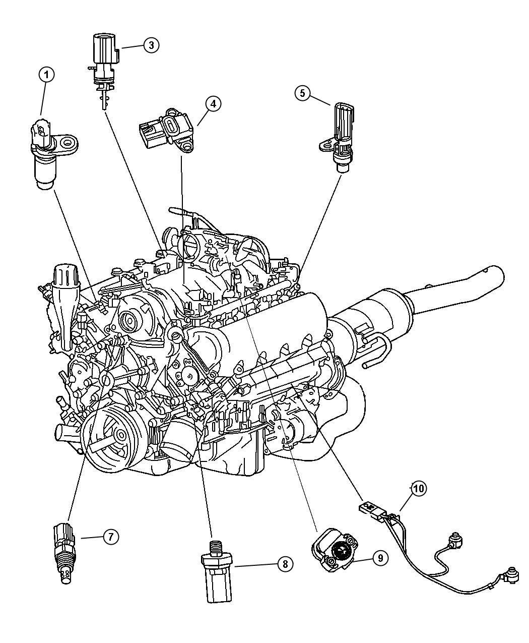 Dodge Dakota Sensor. Coolant temperature. 2.5l & 4.0l