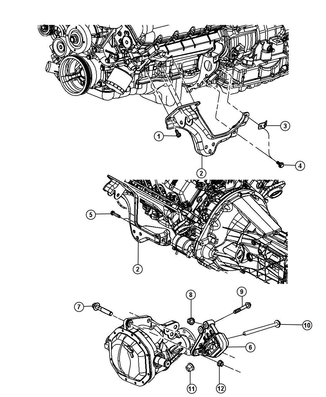 Dodge Ram 1500 Bracket. Engine mount. Left, left side