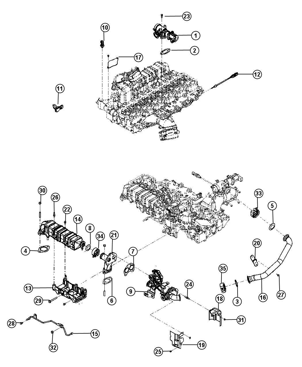 Dodge Ram 3500 Gasket. Emissions, state, diesel