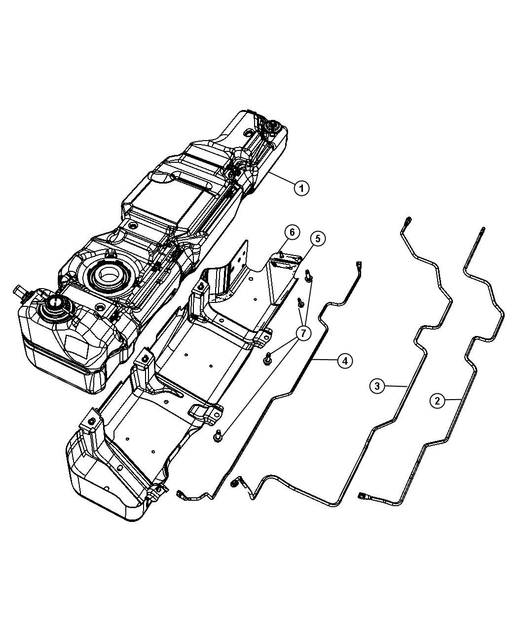 Jeep Wrangler Tank. Fuel. [17 gallon fuel tank], 17.6
