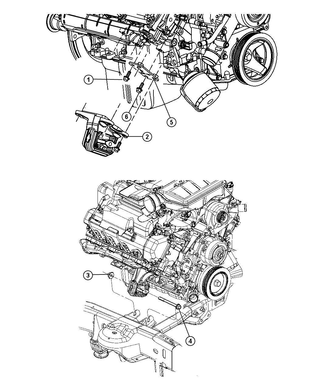 Dodge Ram 1500 Bracket. Engine mount. Right, right side