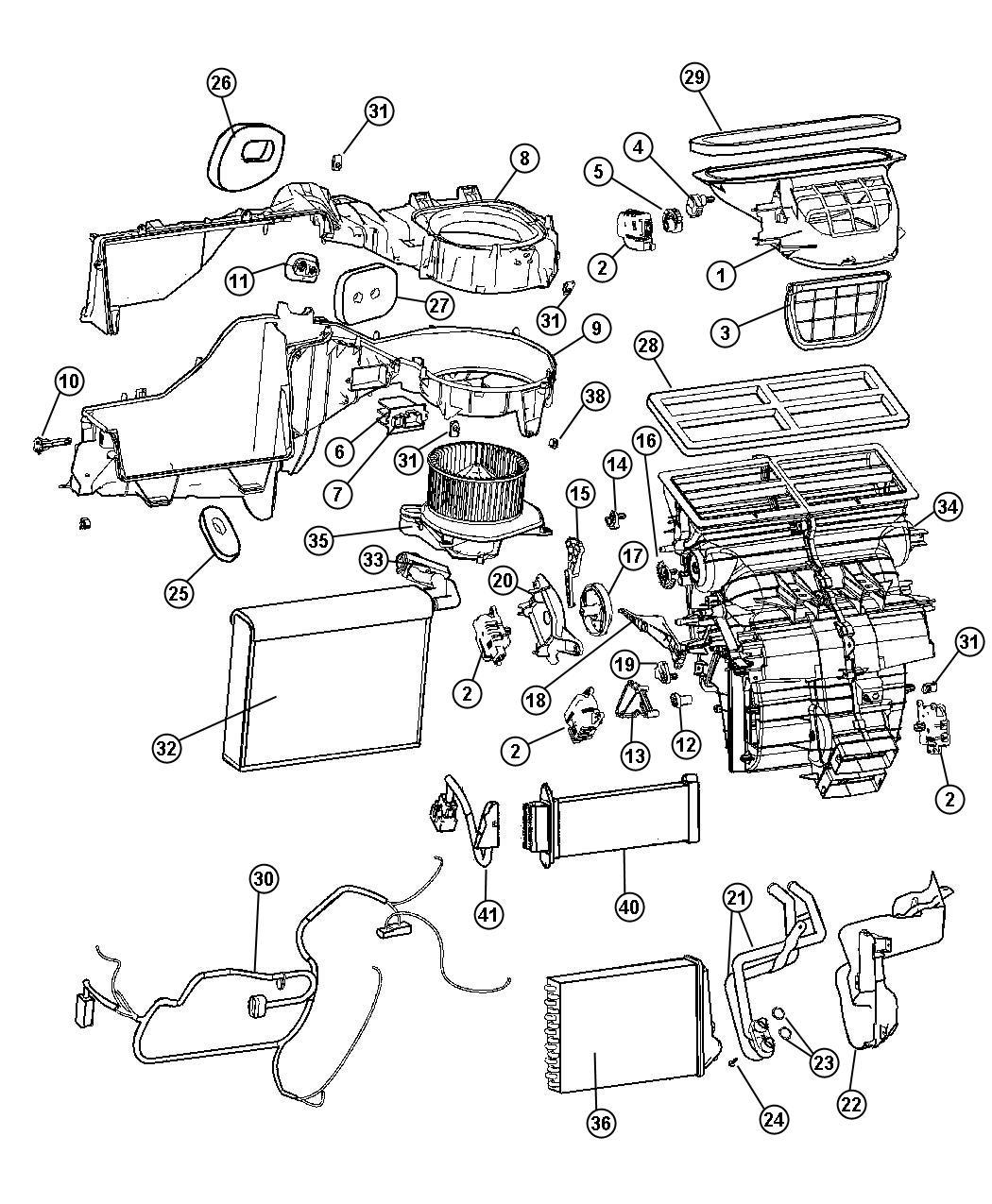 Jeep Grand Cherokee O ring. Heater core, heater core tubes